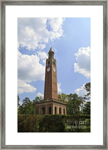 Chapel Hill Bell Tower Framed Print