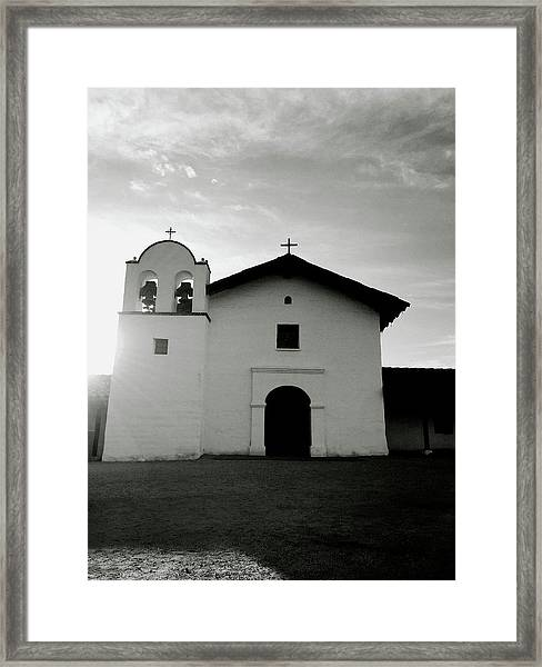 Chapel In The Shadows- Art By Linda Woods Framed Print