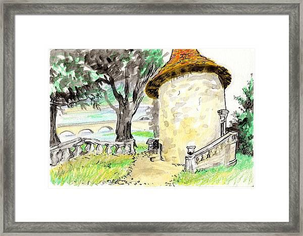 Chapel On Estate River Framed Print