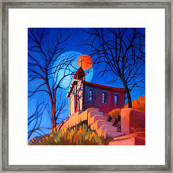 Chapel On The Hill Framed Print