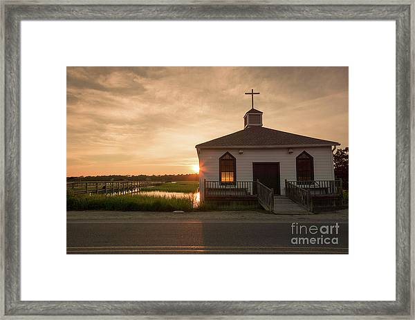 Chapel On The Marsh Framed Print