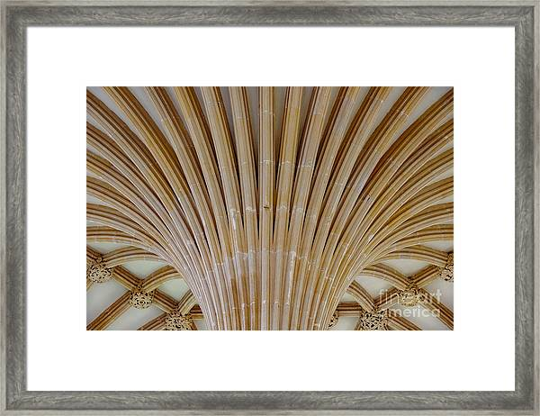 Chapter House Ceiling, Wells Cathedral. Framed Print