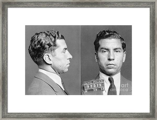 Charles Lucky Luciano Framed Print