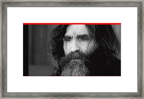 Charles Manson Screen Capture Circa 1970-2015 Framed Print