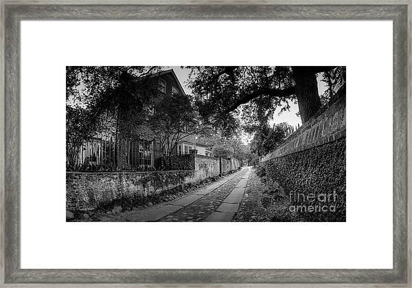 Charleston Ally Path Framed Print