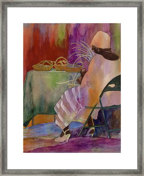 Charleston Basket Weaver Framed Print