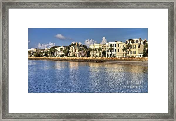 Charleston Battery Row South Carolina  Framed Print