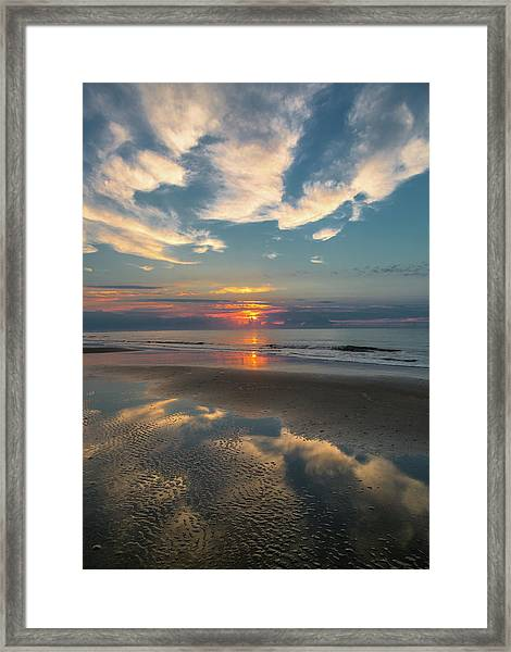 Charleston Coast Sunrise Framed Print