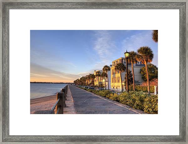 Charleston East Battery Row Sunrise Framed Print