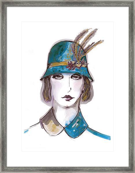 Charleston Girl Watercolor Framed Print