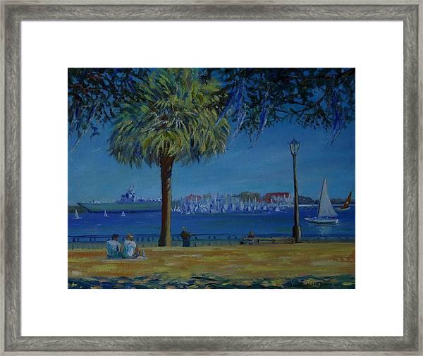 Charleston Harbor Sunday Regatta Framed Print