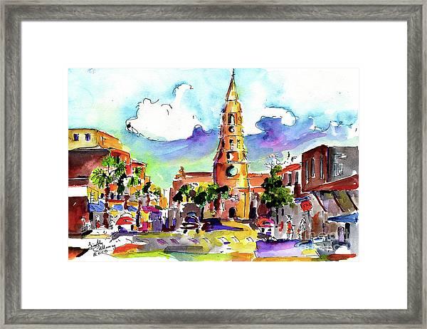Charleston North Market Street Framed Print