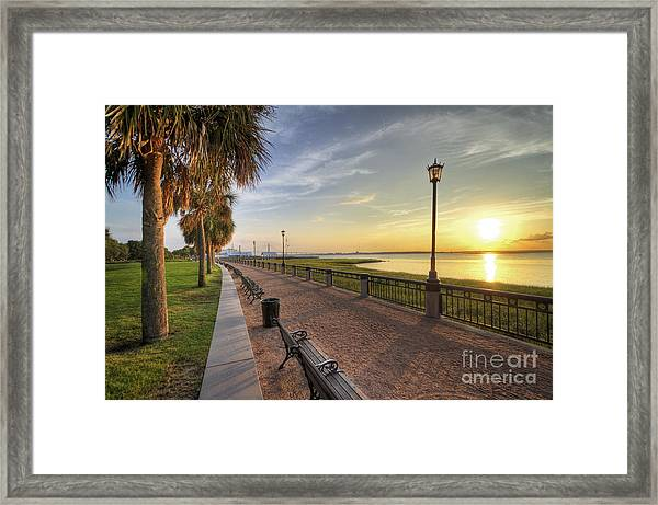 Charleston Sc Waterfront Park Sunrise  Framed Print
