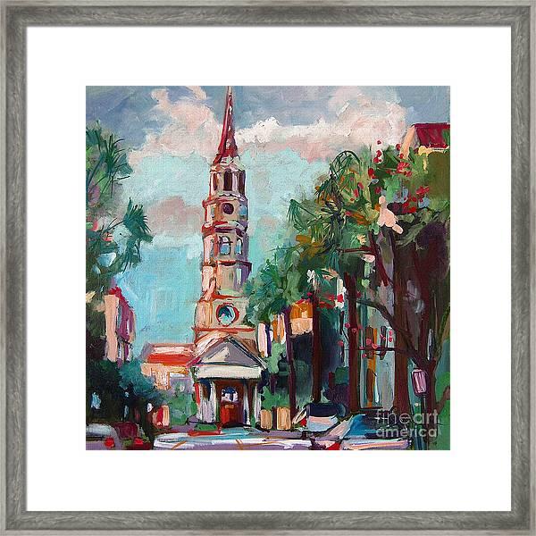 Charleston St Phillips Church Framed Print