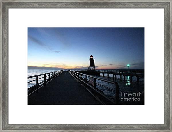 Charlevoix Light Tower Framed Print