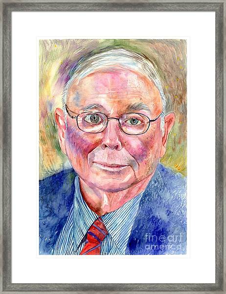 Charlie Munger Painting Framed Print