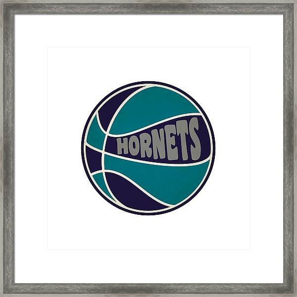 Charlotte Hornets Retro Shirt Framed Print