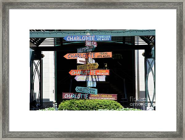 Charlotte Signs Framed Print