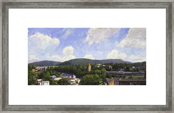 Charlottesville Looking East Framed Print
