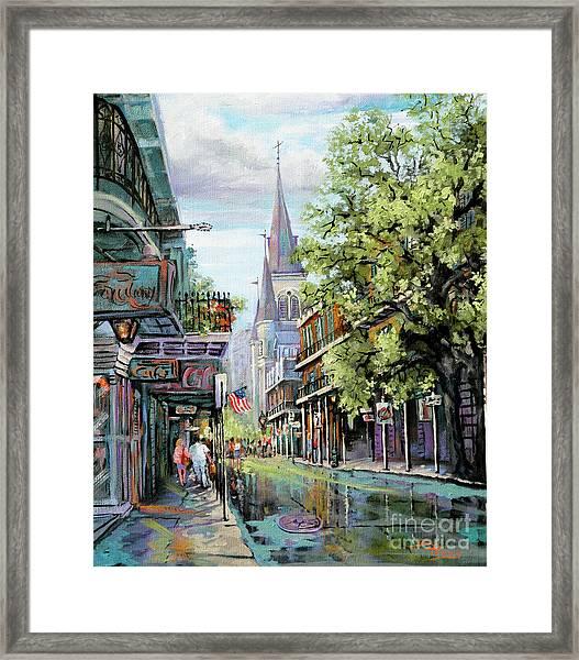 Chartres Rain Framed Print