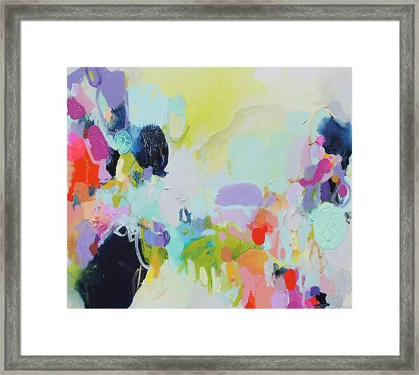 Chartreuse Stop Framed Print