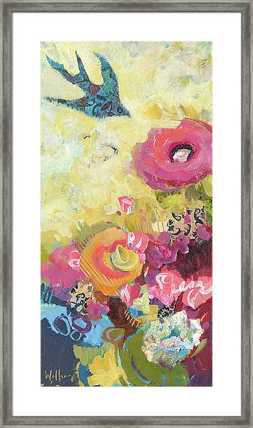 Framed Print featuring the painting Chasing Joy by Shelli Walters