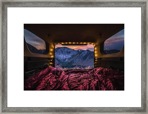 Chasing Sunset Framed Print