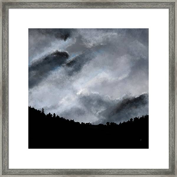 Chasing The Storm Framed Print