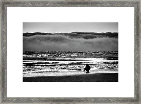 Chasing Tide And Light Framed Print