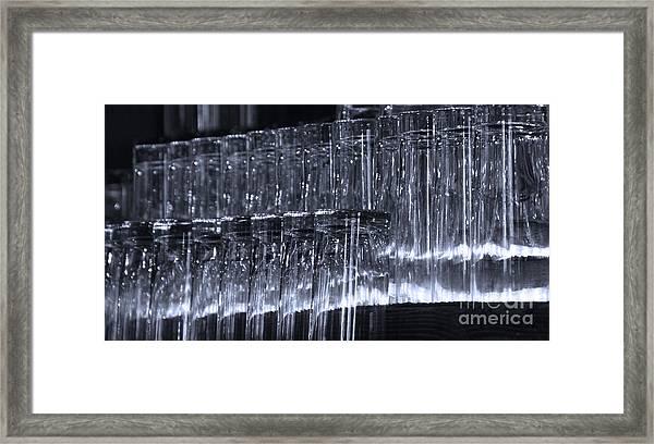 Chasing Waterfalls - Blue Framed Print