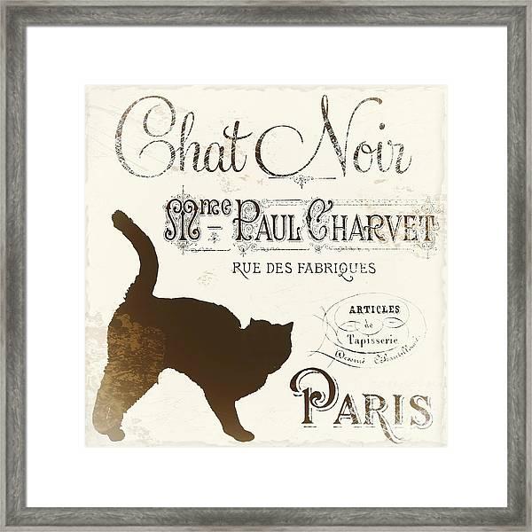 Chat Noir Paris Framed Print