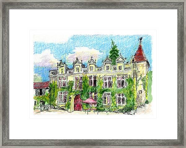 Chateau De Maumont Framed Print