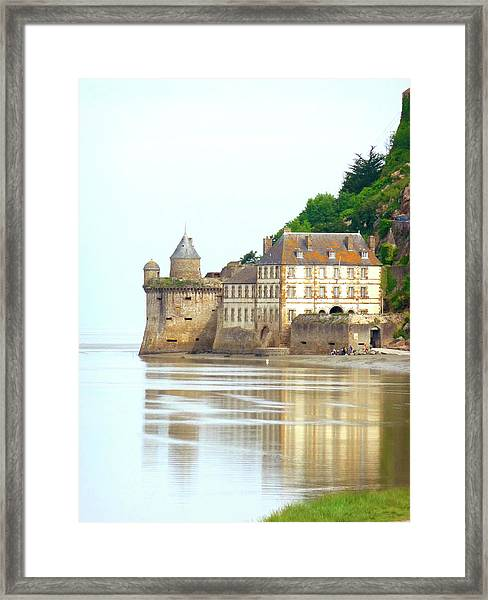 Chateau On Mont St-michel Framed Print