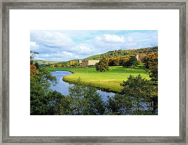 Chatsworth House View Framed Print