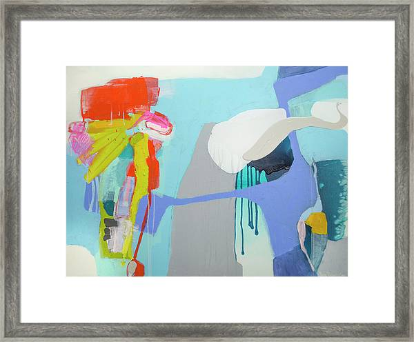 Chatting With The Mirror Framed Print