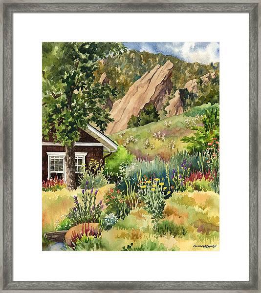 Chautauqua Cottage Framed Print