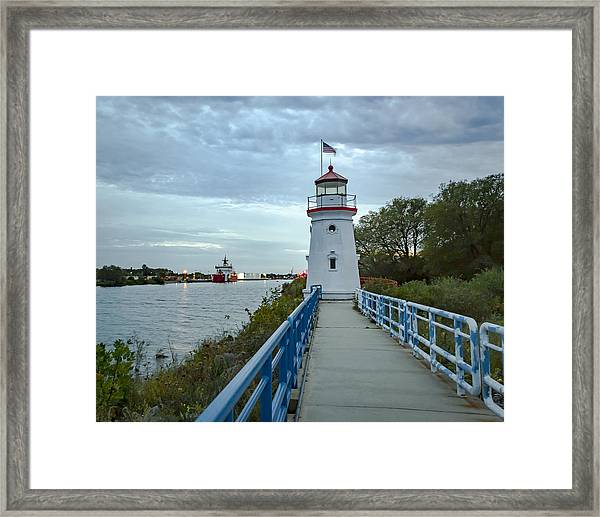 Cheboygan Crib Lighthouse Lake Huron, Lower Peninsula Mi Framed Print
