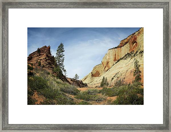 Checkerboard Mesa Framed Print