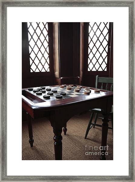 Checkers Table At The Lincoln Cottage In Washington Dc Framed Print