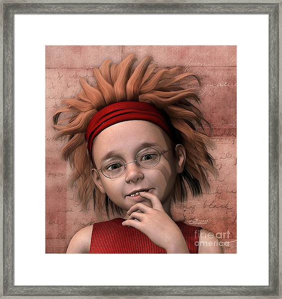 Cheeky Little Miss Framed Print