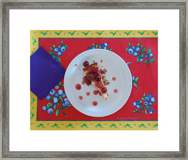 Cheese Cake With Cherries Framed Print