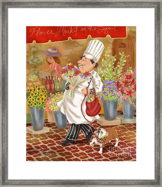 Chefs Go To Market II Framed Print