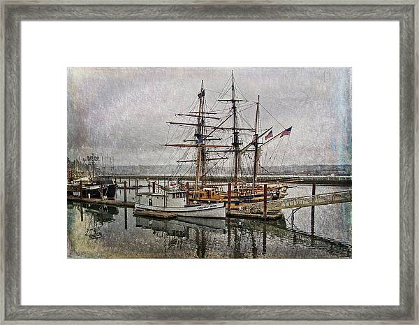 Chelsea Rose And Tall Ships Framed Print