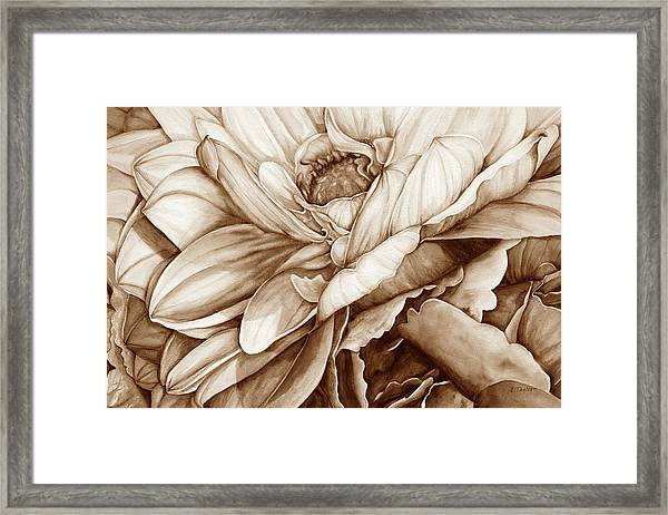 Chelsea's Bouquet 2 - Neutral Framed Print