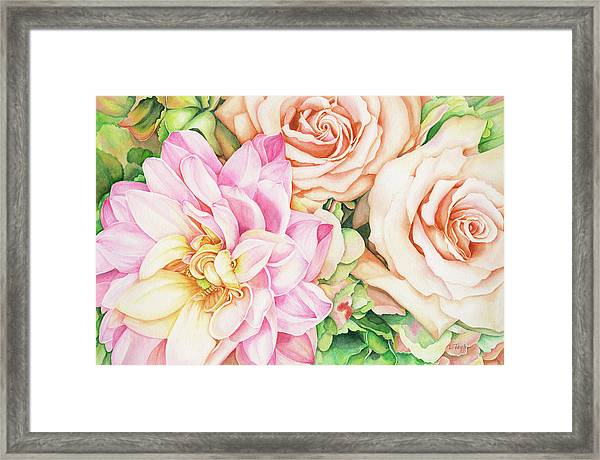 Chelsea's Bouquet Framed Print