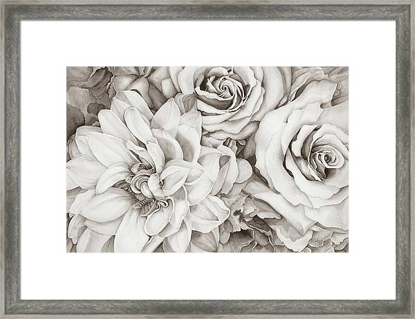 Chelsea's Bouquet - Neutral Framed Print