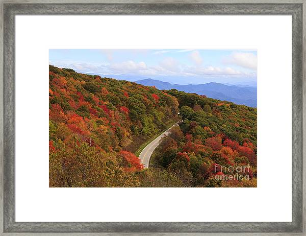Cherohala Skyway In Nc Framed Print