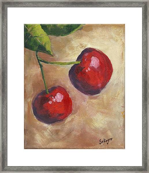 Cherry Duo Framed Print
