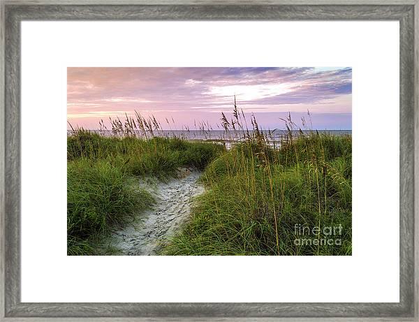 Cherry Grove Beach Scene Framed Print