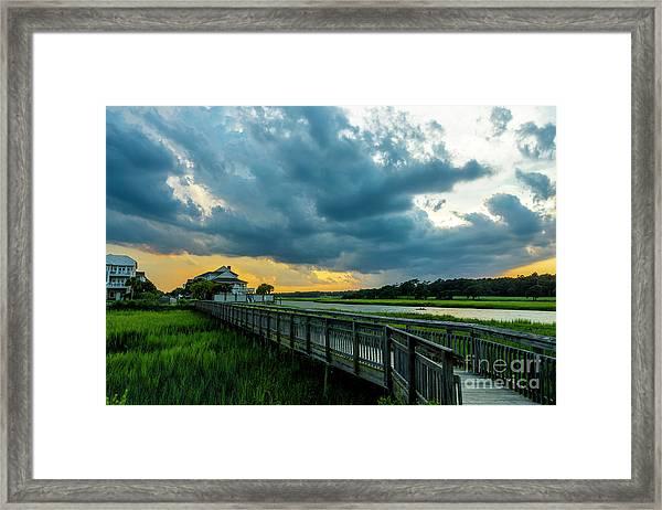 Cherry Grove Channel Marsh Framed Print